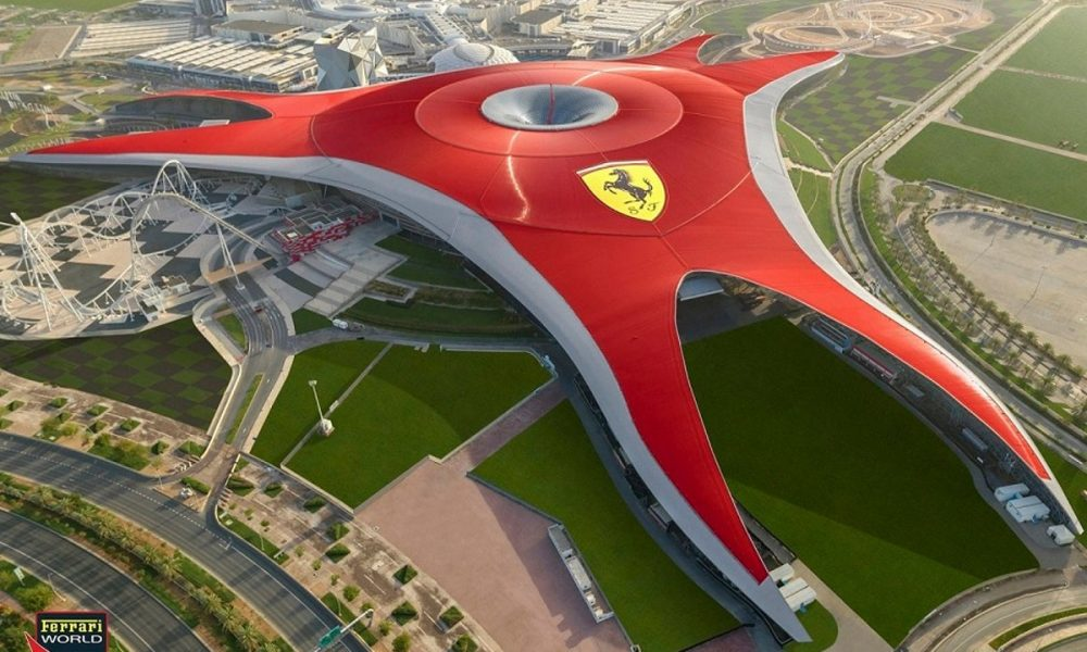 Ferrari World Abu Dhabi - Arial view